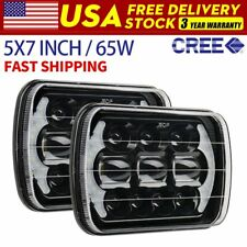 "Pair DOT Approved 5x7 7x6"" 150W Led Headlights for Jeep Cherokee XJ Wrangler YJ"