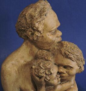 PAT ELVINS GORGE BEGGS P&B ABORIGINAL FAMILY SCULPTURE 1960s AUSTRALIAN ART VGC