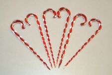 Glass Swizzle Stir Sticks Candy Canes Set 6 Red White OR Tree Ornaments Xmas