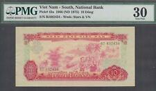Vietnam South National Bank 10 Dong P-43a 1966(Nd 1975) Pmg 30