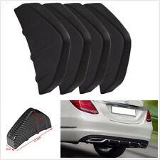 4 Pcs Black ABS Plastic Car Lower Rear Body Bumper Diffuser Shark Fins Universal