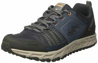 Skechers Mens Escape Plan Low Top Lace Up Running, NAVY/ORANGE, Size 10.5 YUay