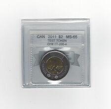 **2011 Test Token**Coin Mart Graded Canadian, Toonie,**MS-65**TT-200-4