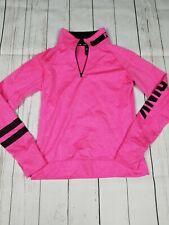 Victoria's Secret Pink Quarter Zip Pullover Long Sleeve Sweatshirt, Size Medium