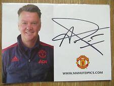 Handsignierte Autogrammkarte *LOUIS VAN GAAL* Manchester United 15/16 2015/2016