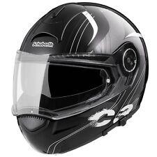 Schubert C3 Stripes Black Flip Up Helmet 54/55 Small