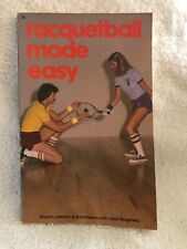 Racquetball Made Easy sports book paperback Vintage1978