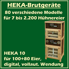 Heka 10 - Fully-Automatic Egg Incubator with Separate Hatcher - For 100+ 80 Eggs