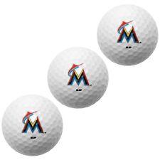 MIAMI MARLINS PACK OF 3 LOGO GOLF BALLS BRAND NEW WINCRAFT