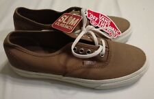 Vans brown with white sole slim Classic skateboard shoes size: men 5.5 women's 7