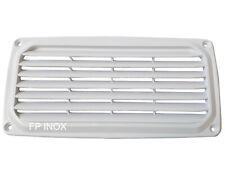 Grille Aération Rectangulaire en Plastique ABS 201 x 101 mm Blanc