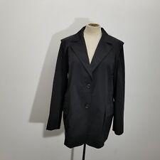 Jil Sander Womens Jacket Sz 44 US 12 Black Single Breasted Lined Back Slit