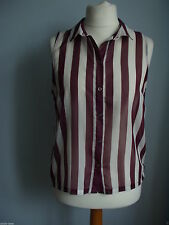 Topshop Semi Fitted Blouses Striped Tops & Shirts for Women