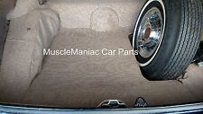 1956 Cadillac Series 62 2DRHT TRUNK MAT Tan/Brown Tweed Mat on Tar/Felt  56