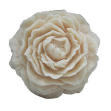 DIY Peony Flower Silicone Soap Molds  Round Candle Making Mould Handmade Mold