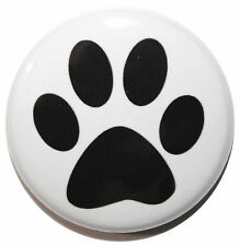 "1"" (25mm) Dog Paw Button Badge Pin - MADE IN UK - High Quality"