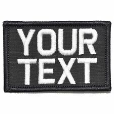 Custom 2x3 Name / Text  Patch with Hook Fastener