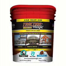 Traction Magic Quick Application All Natural Ice and Snow Melter, 35 Lb Bucket