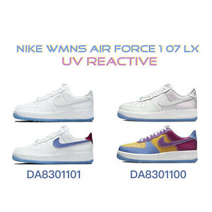 Nike Wmns Air Force 1 07 LX UV Reactive Women Casual Lifestyle Shoes Pick 1