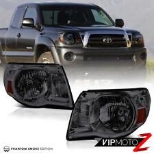 "For 05-11 Toyota Tacoma ""SMOKE"" Pair LH+RH Headlights Headlamps TRD X-Prerunner"