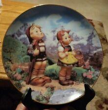 """Danbury Mint M. J. Hummel Little Companions """"Little Explorers"""" Collector Plate"""