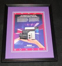 1985 RCA Small Wonders Video Camera Framed 11x14 ORIGINAL Vintage Advertisement
