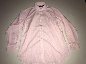 NEW! Polo Ralph Lauren Men's Dress Shirt, Pink Stripe, Classic Fit 16 - 32/33