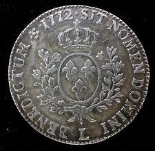 LOUIS XV - ECU A LA VIEILLE TETE 1772 L BAYONNE