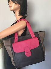 IZOD Bag Tote Two Tone Designer Fashion Chic Women Pocket Stylish