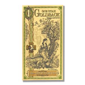 1 Utah Goldback Aurum Gold Foil Note 1/1000 oz 24KT