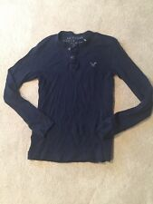 American Eagle Thermal Navy Blue Long Sleeve Shirt Size S