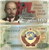 Russia 100 rubles 2021, Vladimir Lenin, Souvenir paper banknote, UNC