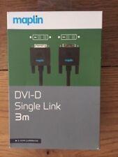 Maplin DVI-D Single Link Cable, 3m