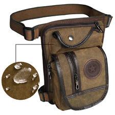 Men Tactical Canvas Drop Leg Bag Waterproof Military Riding Hip Thigh Waist Pack