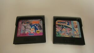 Sonic Chaos + Sonic 2 (Sega Game Gear) tested working