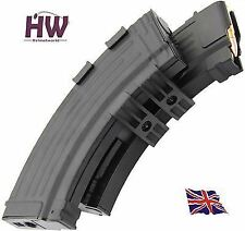 AIRSOFT AK47 SERIES HI CAP MAGAZINE MAG 1200 RDS Electric SOUND ACTIVATED UK