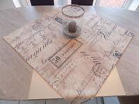 Moderne Mitteldecke Tischdecke 85 x 85 cm Cafe Maritim Grau Beige