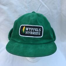 Vintage Wyffels Hybrids Seed Hat Cap Patch Ear Flaps Corduroy K-Brand Hipster