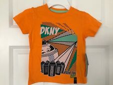 DKNY NWT Boys Tee Top Shirt T-Shirt Paint the City New York Orange Green 3 3T