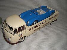 SCHUCO VW T 1 BUNKER + PORSCHE 550 SPYDER  RENNSET 1:18