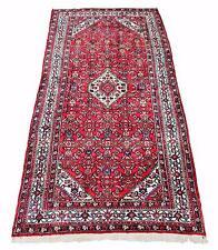 Antique large Persian Hamadan hand woven wool rug carpet red ~ 5' x 12'