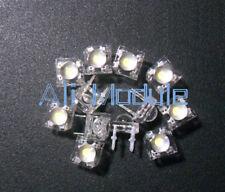 50PCS 5mm F5 Piranha LED White Round Head Super Bright Light Emitting Diode new