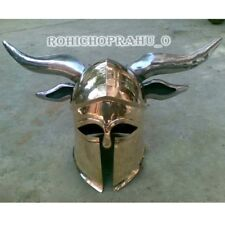 '  Medieval Viking Barbarian CORINTHIAN Helmet steel horns for cosplays`ylo