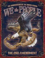 We The People - 2nd Amendment Tin Sign Tin Sign - 12.5x16