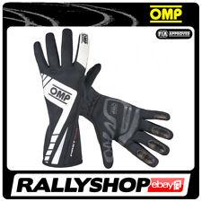 FIA OMP FIRST EVO RACE Karthandschuh Handschuhe Professionell schwarz Motor