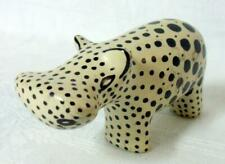 Mid Century Modern Carved Stone Polka Dot Hippo Hippopotamus