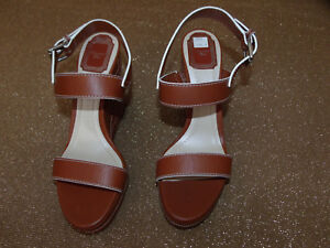 Christian Dior Yacht Women US sz 9 Safari Brown Wedge Sandal  14712 , List $696