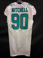 #90 MIAMI DOLPHINS EARL MITCHELL GAME USED WHITE AUTHENTIC NIKE JERSEY ARIZONA