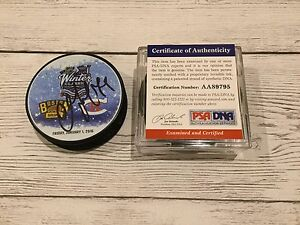 Andrei Markov Signed 2016 Winter Classic Canadiens Hockey Puck PSA DNA COA a