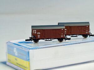 FR 2 ea BOX CAR SET Era III 49.334.02 German DRG Z scale Freudenreich